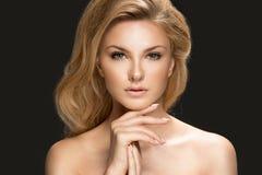 красивейшая женщина портрета модели очарования Стоковое Фото