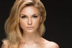 красивейшая женщина портрета модели очарования Стоковая Фотография