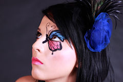 красивейшая женщина портрета очарования Стоковая Фотография RF