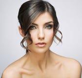 красивейшая женщина портрета Плечи обнажённого Стоковые Изображения RF