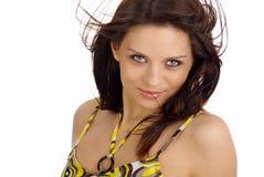 красивейшая женщина портрета состава способа Стоковая Фотография RF