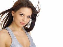 красивейшая женщина портрета состава способа Стоковое фото RF