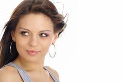 красивейшая женщина портрета состава способа Стоковые Изображения RF