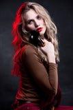 красивейшая женщина портрета состава щеток Стоковые Фотографии RF