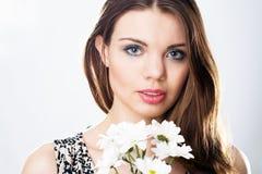 красивейшая женщина портрета стороны стоковое фото rf