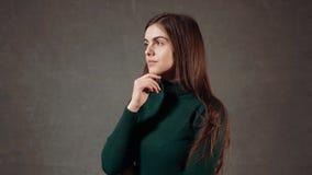 красивейшая женщина портрета сток-видео