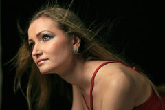 красивейшая женщина портрета Стоковые Изображения