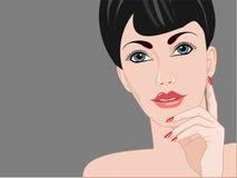 красивейшая женщина портрета иллюстрация штока