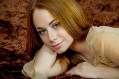 красивейшая женщина портрета Стоковые Изображения RF