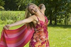 красивейшая женщина природы танцы Стоковые Фото