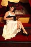 красивейшая женщина пушки стоковое изображение