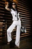 красивейшая женщина ресторана Стоковое фото RF