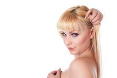 красивейшая женщина светлых волос Стоковое фото RF