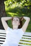 Женщина имея свободное время Стоковые Фото