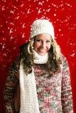 красивейшая женщина снежка Стоковое Изображение