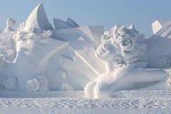 красивейшая женщина снежка Стоковое фото RF