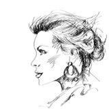 красивейшая женщина стороны Стоковое Фото