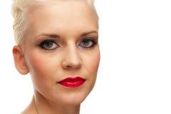красивейшая женщина студии портрета крупного плана Стоковые Изображения RF