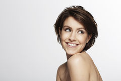 красивейшая женщина студии Стоковая Фотография