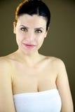 Красивейшая женщина с зелеными глазами Стоковые Фотографии RF
