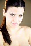 Красивейшая женщина с зелеными глазами Стоковое Изображение