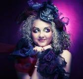 Красивейшая женщина с художническим составом Стоковая Фотография RF
