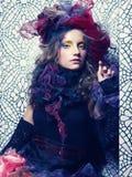 Красивейшая женщина с художническим составом Стоковая Фотография