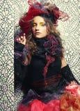 Красивейшая женщина с художническим составом Стоковое Изображение