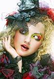 Красивейшая женщина с художническим составом Стоковое фото RF