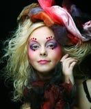Красивейшая женщина с художническим составом Стоковые Фотографии RF