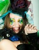 Красивейшая женщина с художническим составом Стоковое Изображение RF