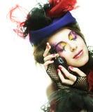 Красивейшая женщина с художническим составом Стоковое Фото