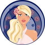 Красивейшая женщина с шикарным платьем Стоковые Изображения RF