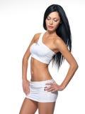 Красивейшая женщина с sporty тонкий телом Стоковая Фотография