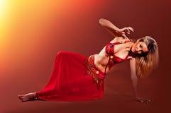 красивейшая женщина танцора живота экзотическая Стоковые Фото