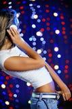 красивейшая женщина танцы Стоковое Изображение