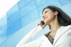 красивейшая женщина телефона дела Стоковые Фото