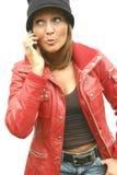 красивейшая женщина телефона Стоковые Изображения