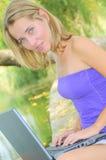 красивейшая женщина тетради Стоковое Фото