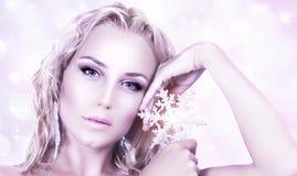 красивейшая женщина типа рождества Стоковое Изображение RF