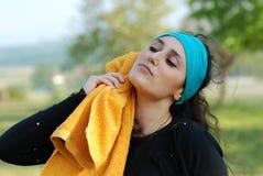 красивейшая женщина тренировки Стоковое Фото
