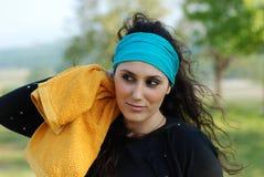 красивейшая женщина тренировки Стоковые Фото