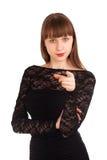 Красивейшая женщина указывая на вас Стоковое Изображение RF