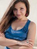 красивейшая женщина универсалии портрета outdoors Стоковое Фото