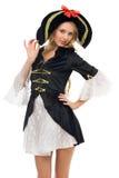 красивейшая женщина формы пирата costume масленицы Стоковые Фотографии RF