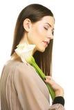 красивейшая женщина цветка calla Стоковые Фотографии RF