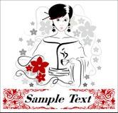 красивейшая женщина чая чашки Стоковое Фото