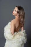 красивейшая женщина шерсти Стоковые Фото