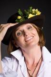 красивейшая женщина шлема стоковые изображения