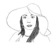 красивейшая женщина эскиза Стоковые Фото